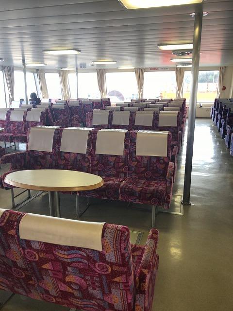 東京湾フェリーの座席