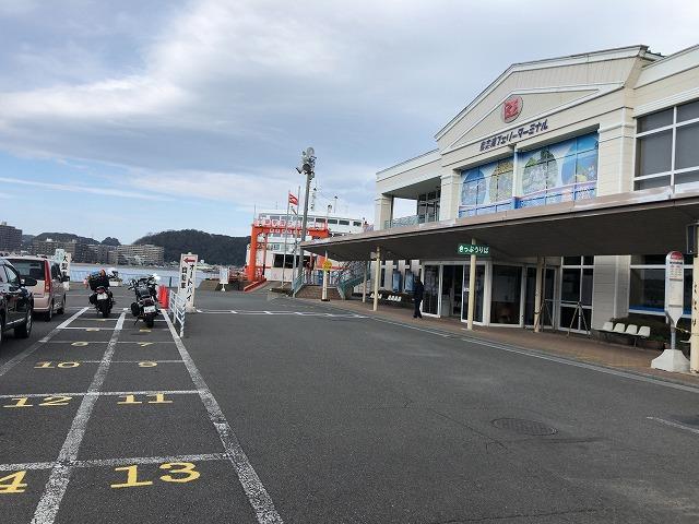 久里浜港バイク置き場