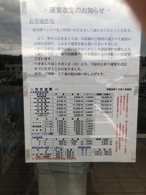 東京湾フェリーの料金