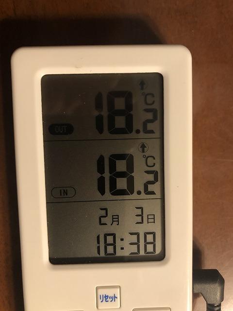 気温18度