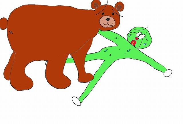 小梨平キャンプ場の熊