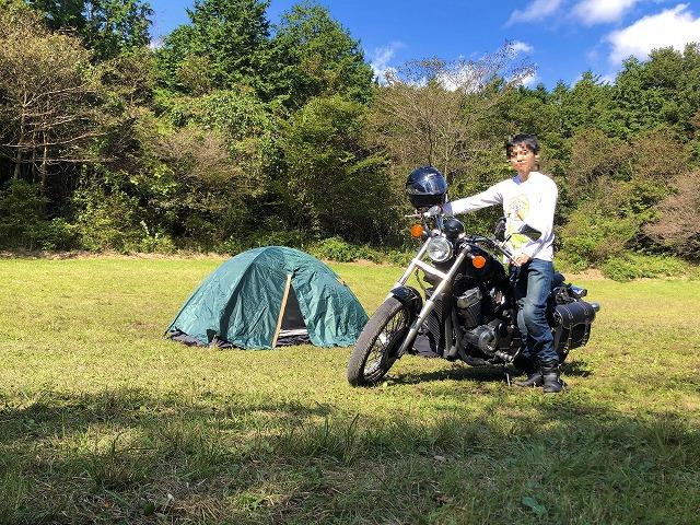 朝霧ジャンボリーオートキャンプ場にバイクで行った