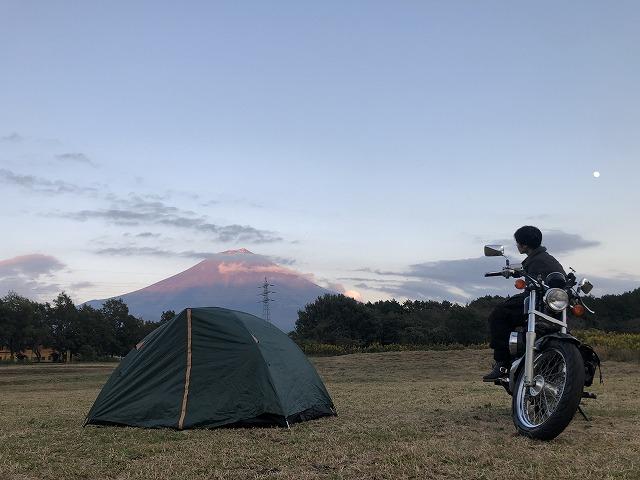 富士山キャンプランドにバイクで来た