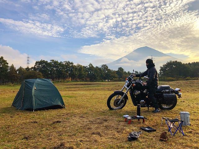 富士山キャンプランドとバイク
