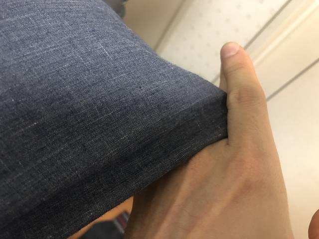 指の間に布を挟む癖